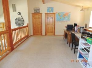 upstairs loft and homeschool room