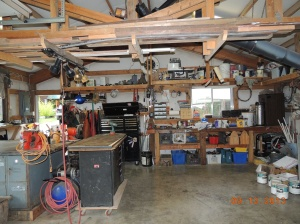 Workshop area in large shop