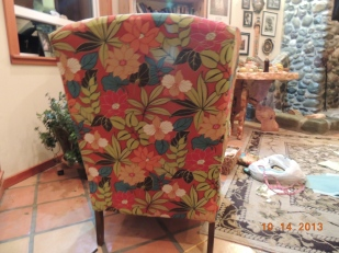 Back of chair, this was done last