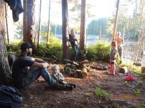 Soaking up the fall sun.  This was the night of the Hunters Full Moon!
